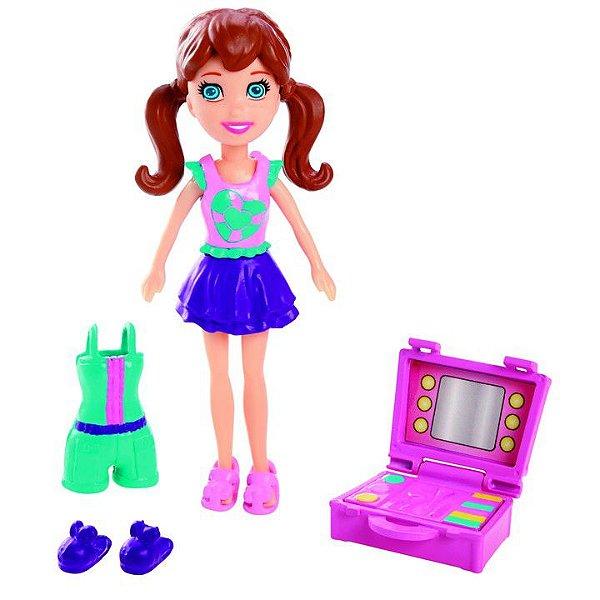 Boneca Polly Pocket Casa Divertida Lila - Mattel
