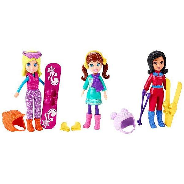 Boneca Polly Pocket Diversão Na Neve - Mattel