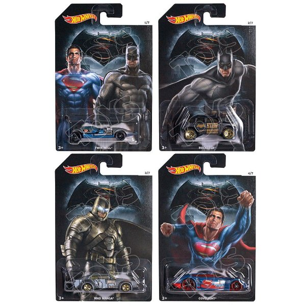 Kit Hot Wheels Batman V Superman Dawn of Justice - Mattel