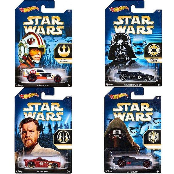 Kit 4 Carros Hot Wheels Star Wars The Force Awakens - Mattel