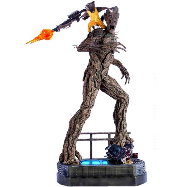 Rocket & Groot - Prison Breakout - Guardians of the Galaxy - Iron Studios