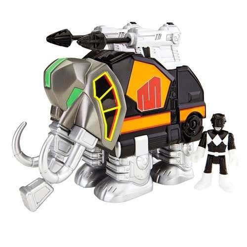 Power Rangers Imaginext Ranger Preto E Zord Mastodonte - Mattel