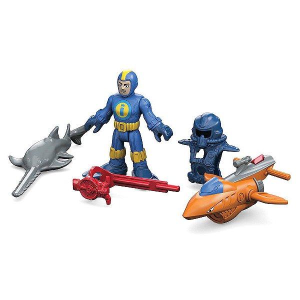 Imaginext Mergulhador de Águas Profundas Oceano - Mattel - Fisher Price