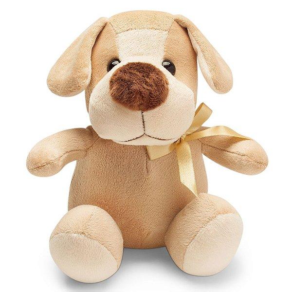 Cachorro de Pelúcia Marrom Claro Chocolate 20cm