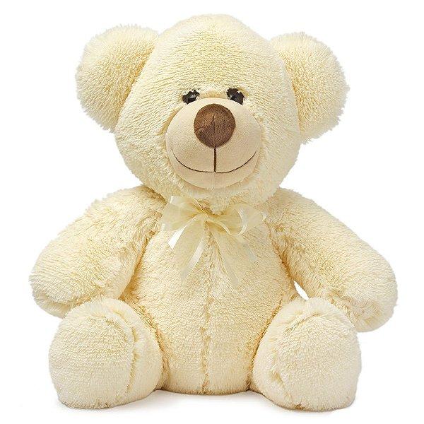 Urso de Pelúcia Paixão Bege 45cm