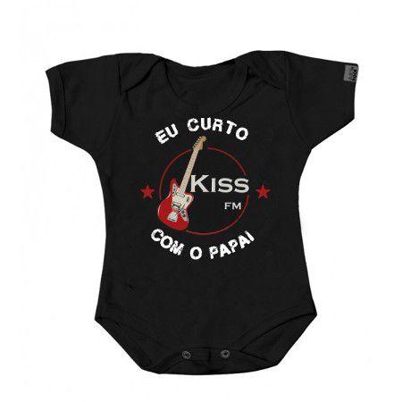 """Body """"Eu Curto Kiss com o Papai"""""""