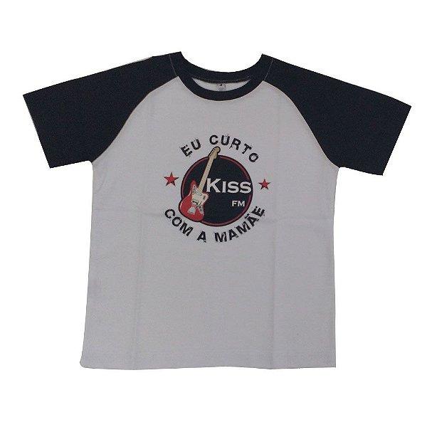 """Camiseta """"Eu Curto a Kiss FM com a Mamãe"""""""
