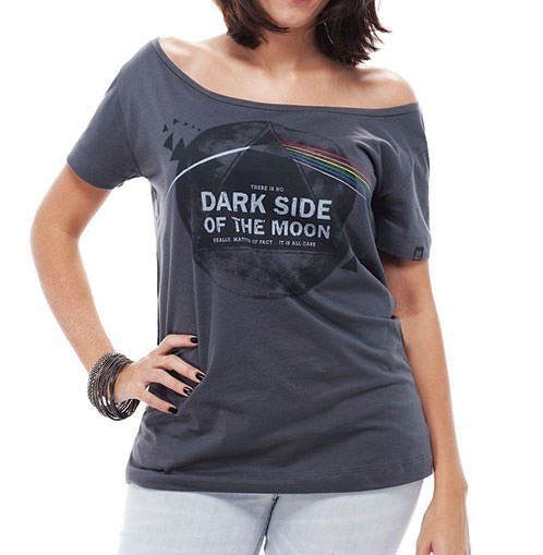 Camiseta Feminina Dark Side Cinza
