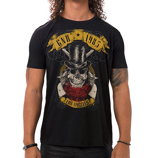 Camiseta Masculina GNR 1985 Preta