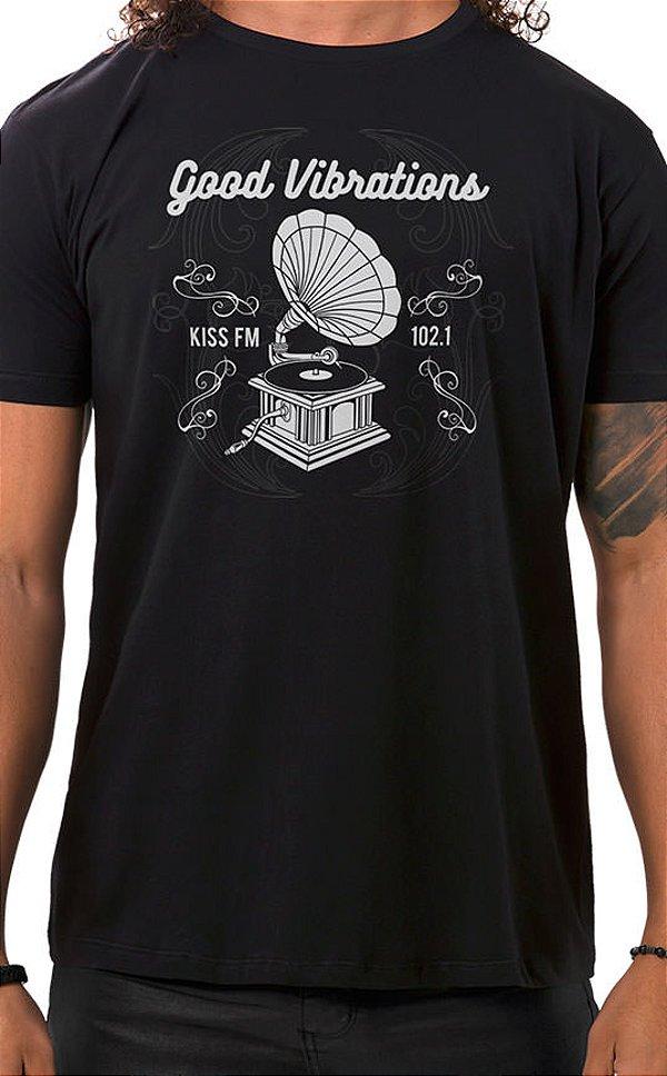 Camiseta Masculina Vibrations Preto