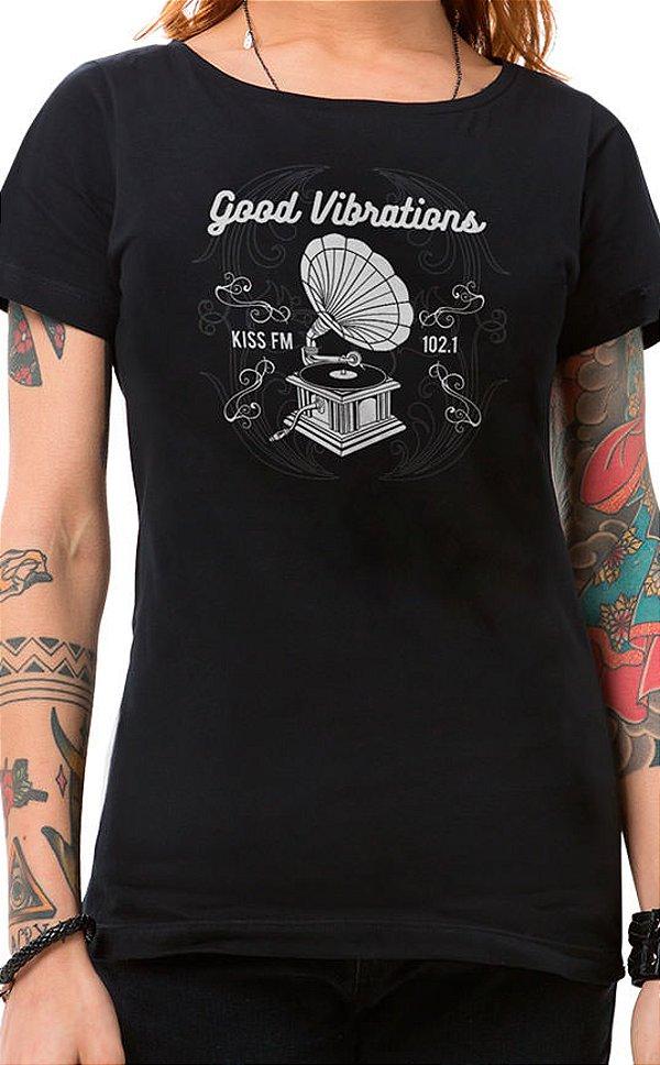 Camiseta Feminina Vibrations Preto