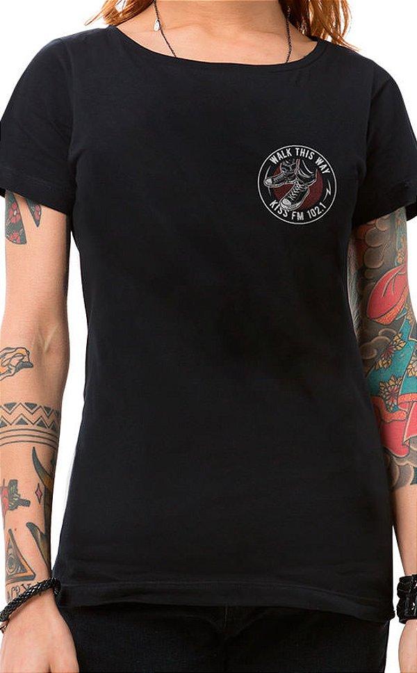 Camiseta Feminina Rock Shoes XT Preto