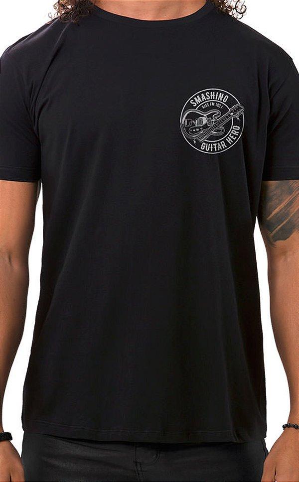 Camiseta Masculina Smashing Guitar XT Preto