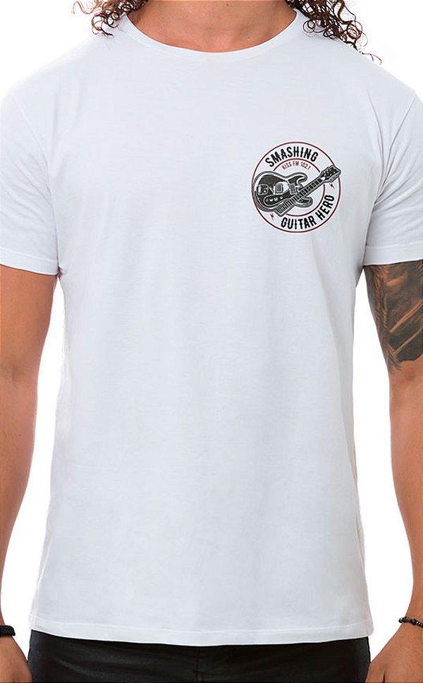 Camiseta Masculina Smashing Guitar XT Branco