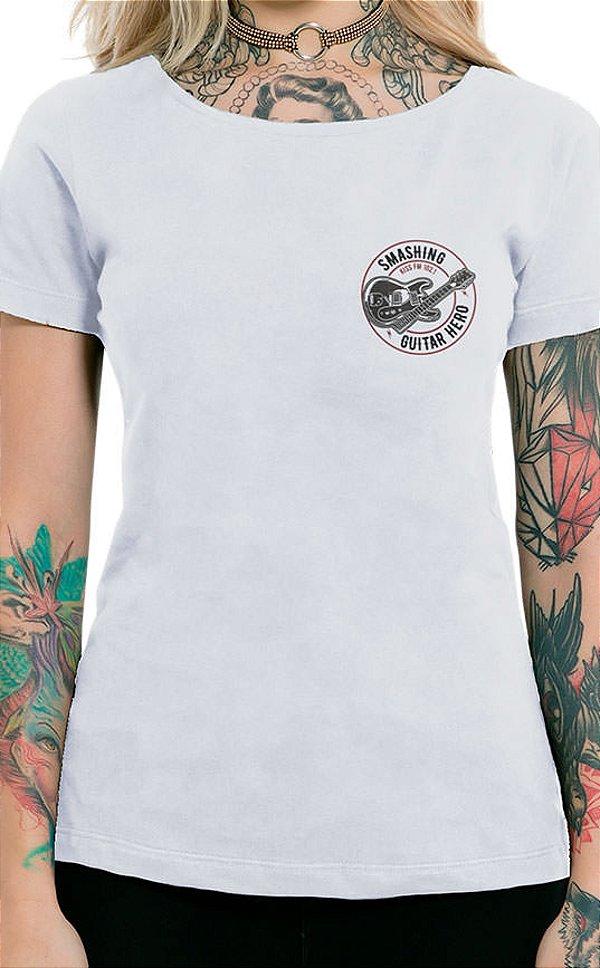 Camiseta Feminina Smashing Guitar XT Branco