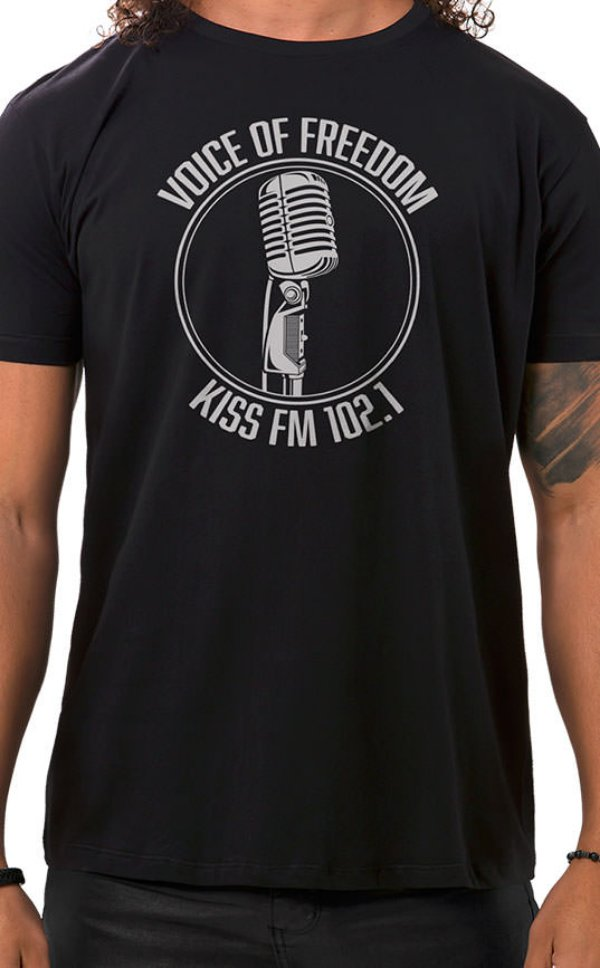 Camiseta Masculina Voice of Freedom Preto