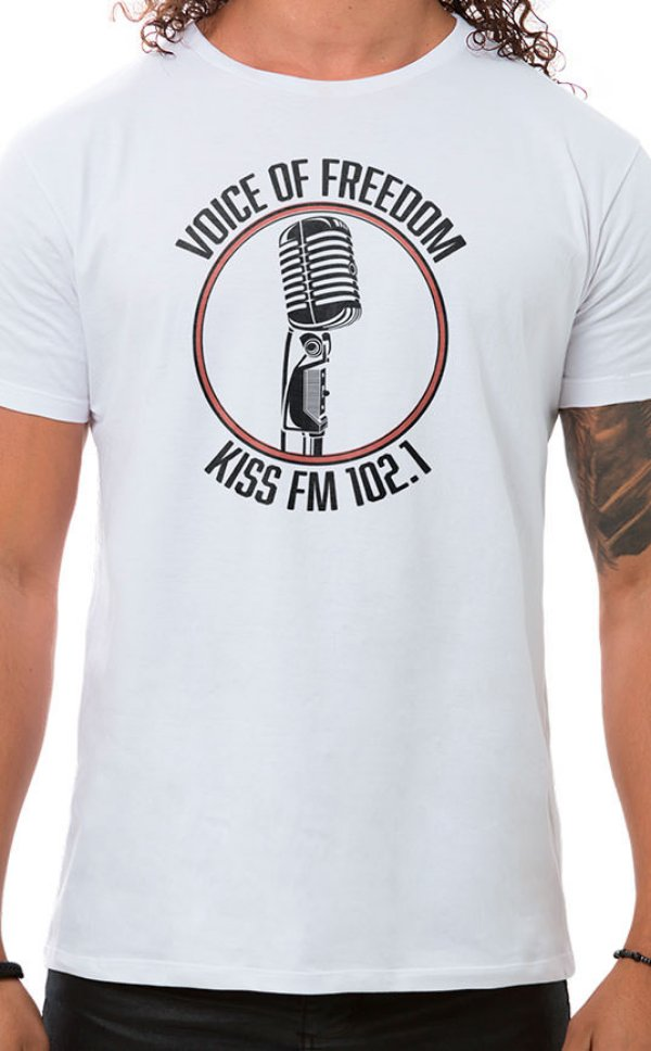 Camiseta Masculina Voice of Freedom Branco