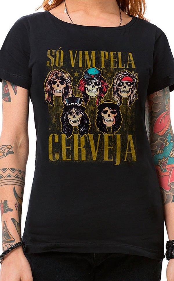 Camiseta Feminina Sweet Beer O Mine Preto