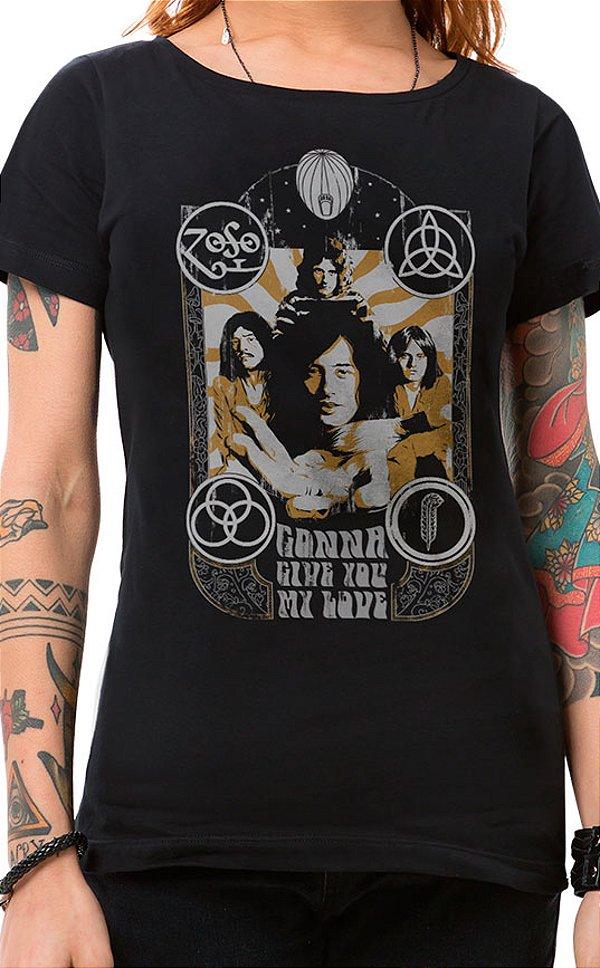 Camiseta Feminina Lotta Love Preto