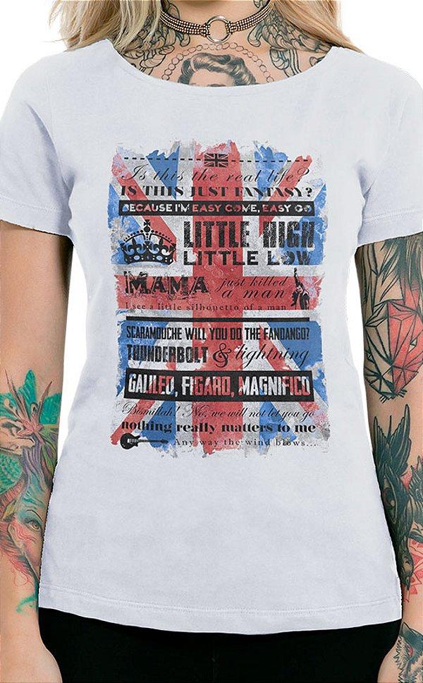 Camiseta Feminina Bohemian Queen Branco