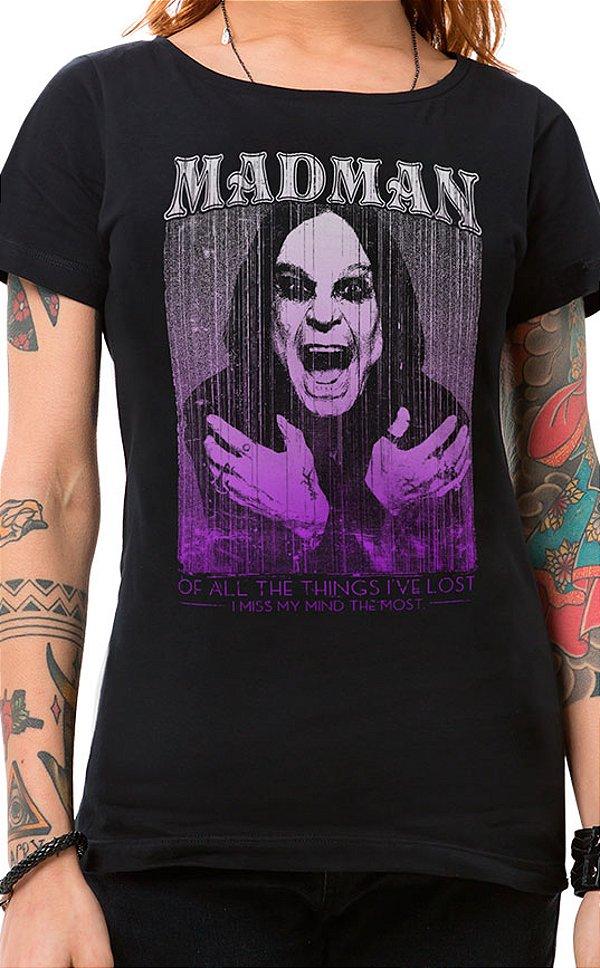 Camiseta Feminina Madman Preto