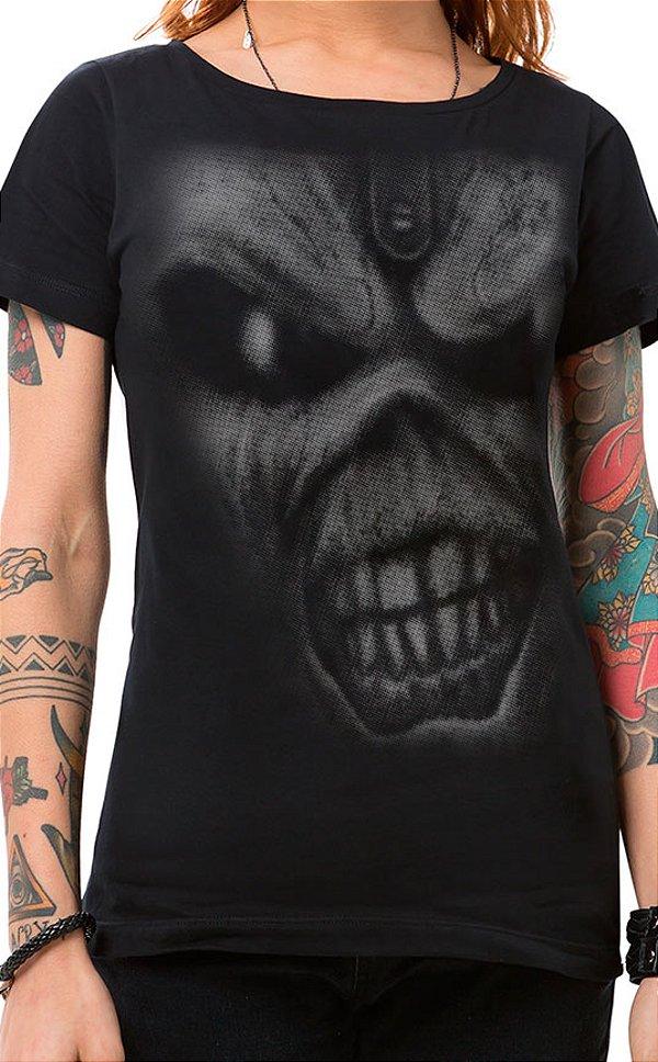 Camiseta Feminina Iron Eddie Preto