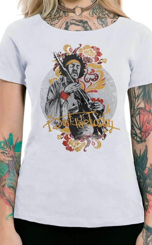 Camiseta Feminina Gipsy Jimi Branco