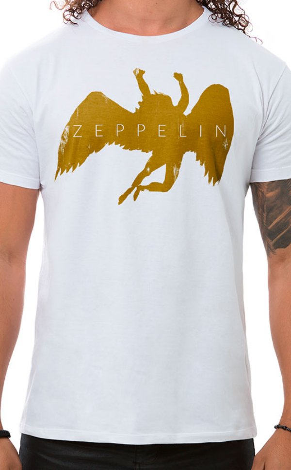 Camiseta Masculina Zeppelin Branco