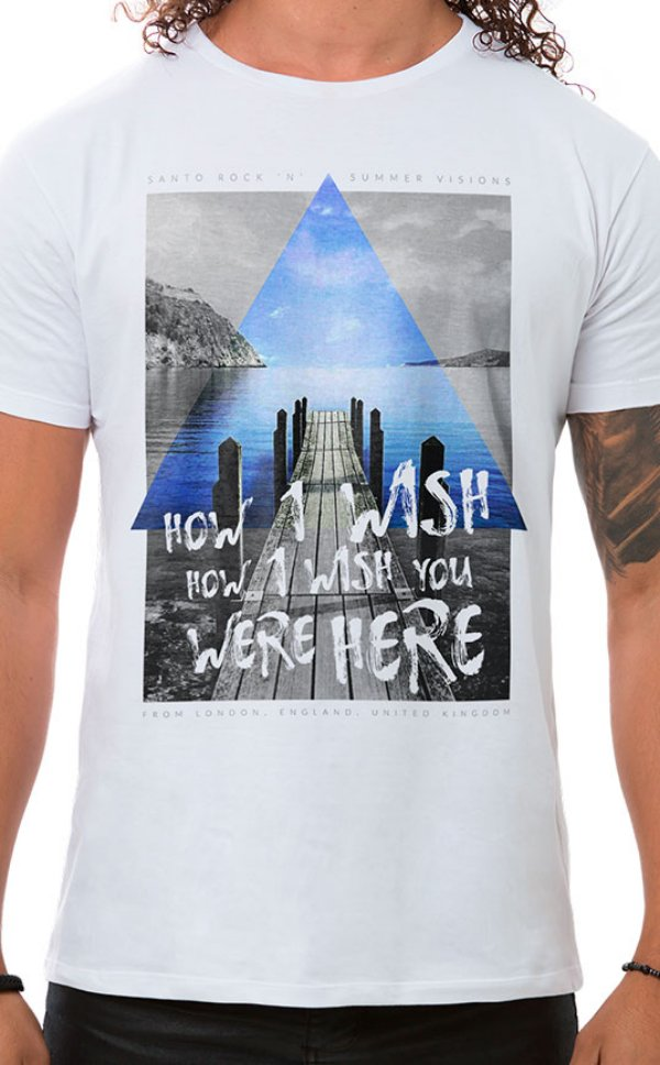Camiseta Masculina How I Wish Branco