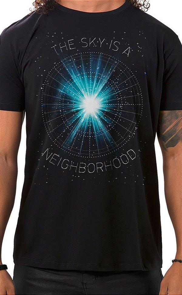 Camiseta Masculina Neighborhood Sky Preto
