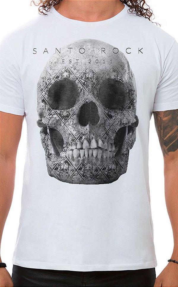 Camiseta Masculina Tattooed Skull Branco