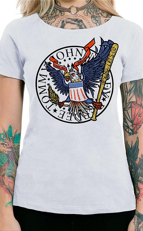 Camiseta Feminina Hey Ho Eagle Branco
