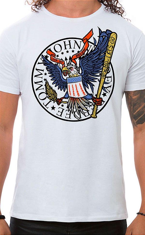 Camiseta Masculina Hey Ho Eagle Branco