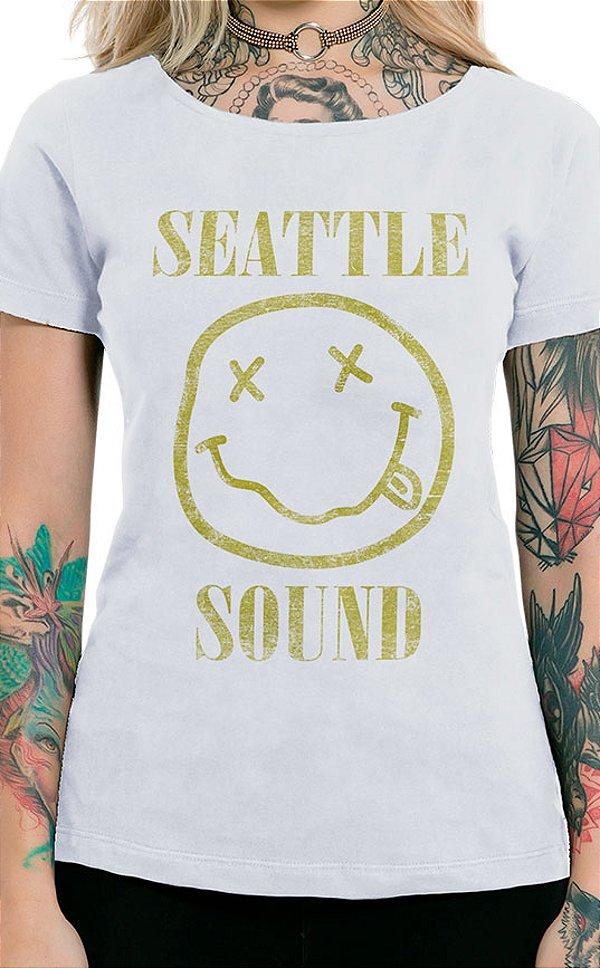 Camiseta Feminina Seattle Sound Branco