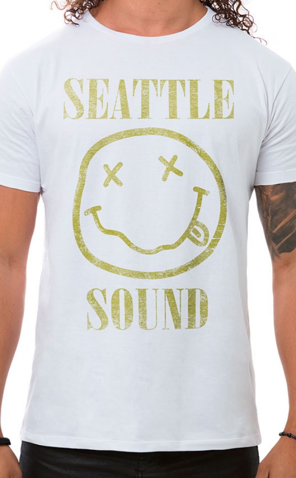 Camiseta Masculina Seattle Sound Branco