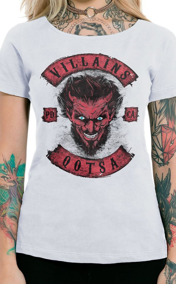 Camiseta Feminina Villains of QOTSA Branco