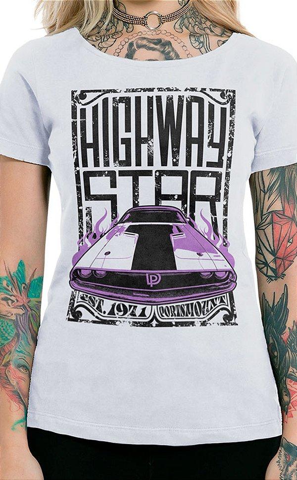 Camiseta Feminina Highway Star Branco