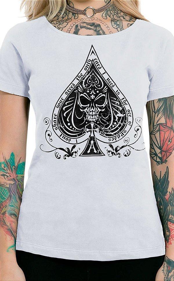 Camiseta Feminina Ace of Spades Branco