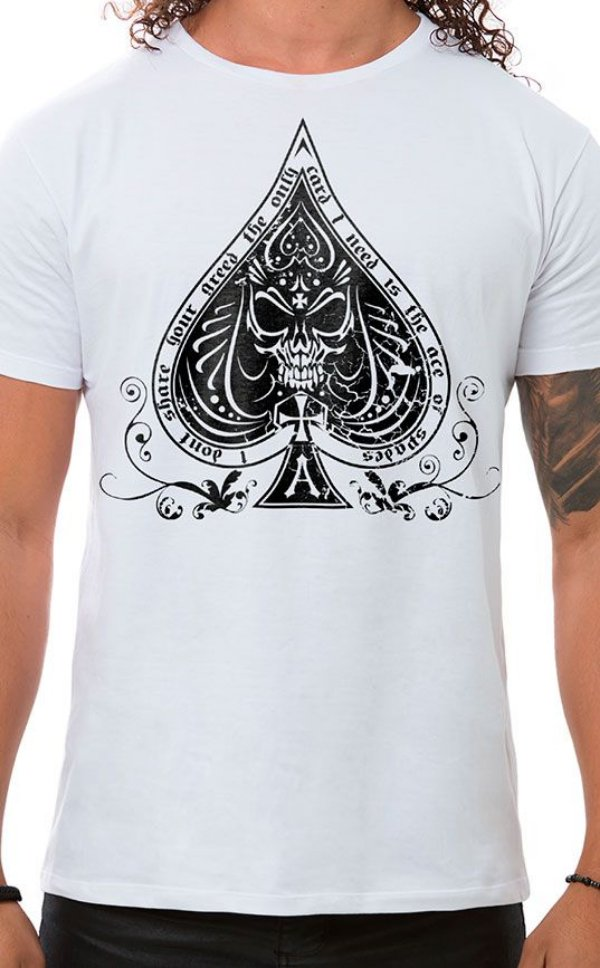Camiseta Masculina Ace of Spades Branco