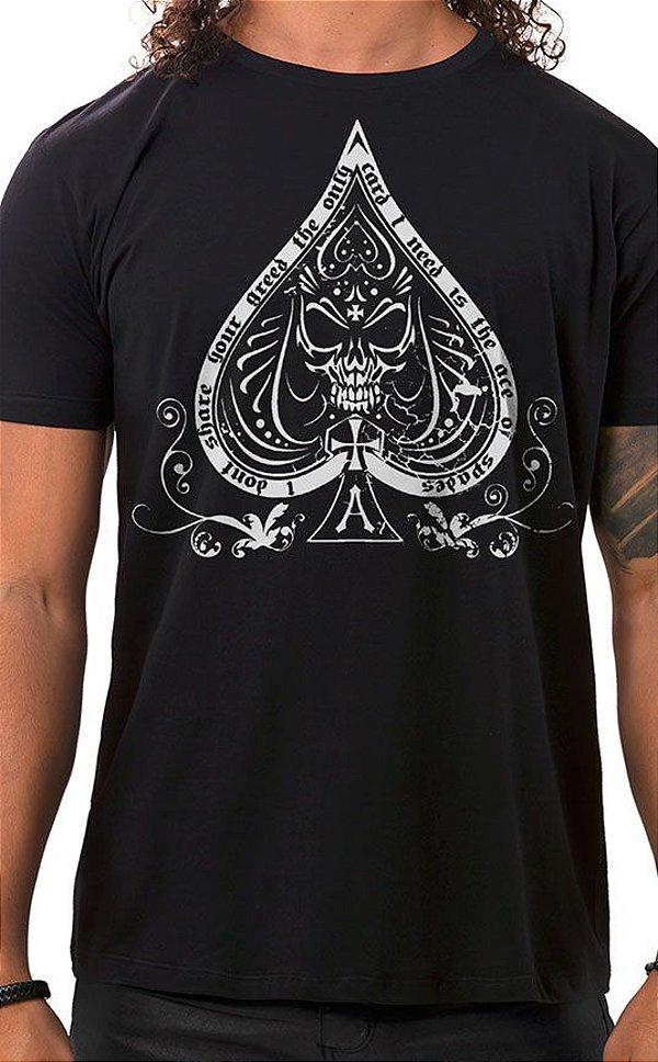 Camiseta Masculina Ace of Spades Preto