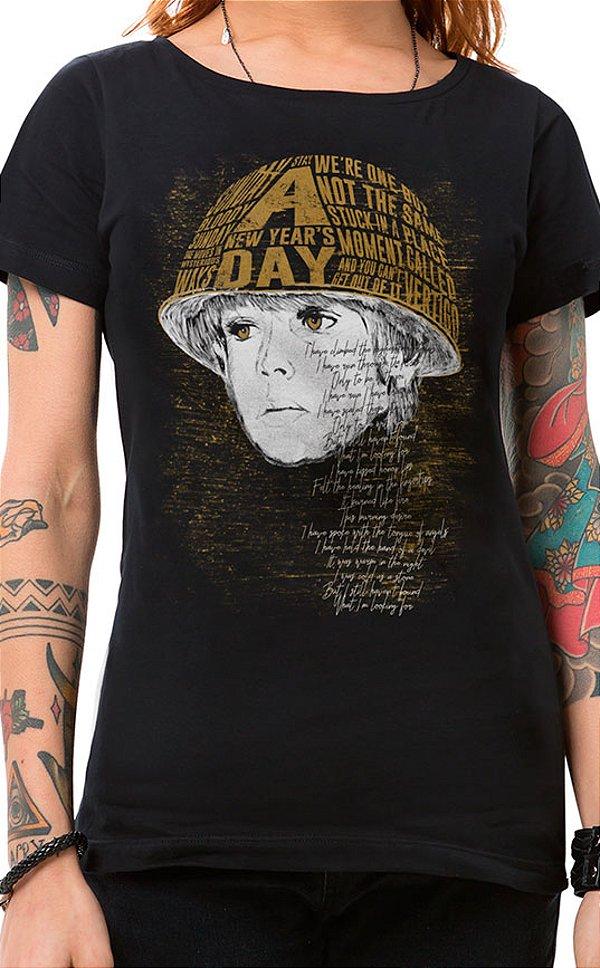 Camiseta Feminina Boy Preto