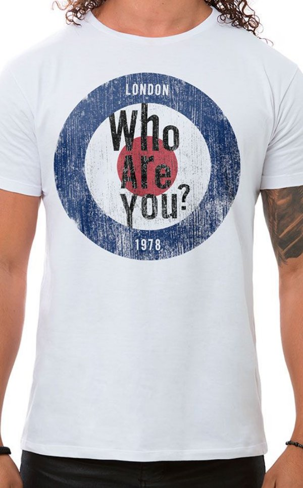 Camiseta Masculina Who Are You Branca