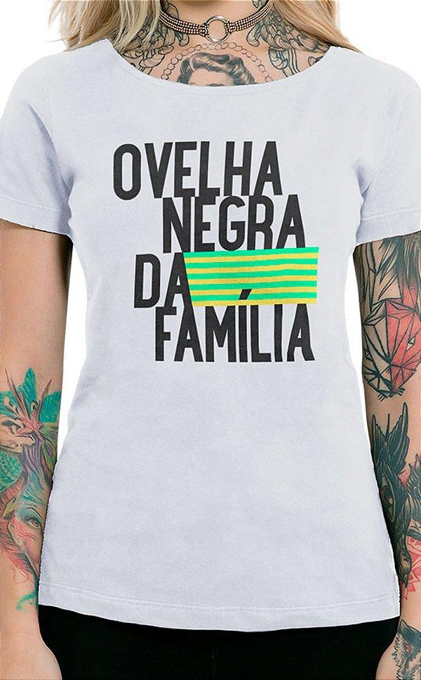 Camiseta Feminina Ovelha Negra Branco