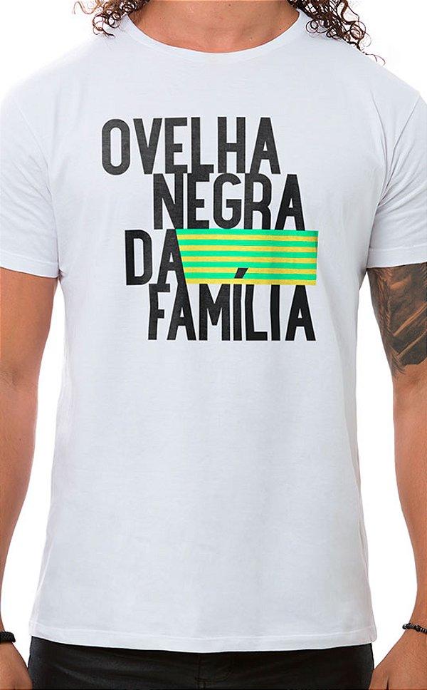 Camiseta Masculina Ovelha Negra Branco