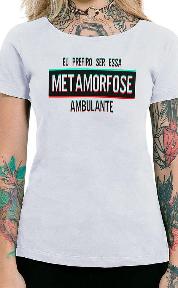 Camiseta Feminina Metamorfose Branco