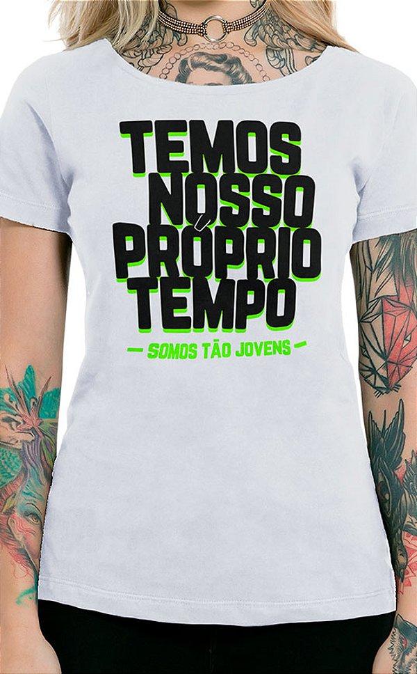Camiseta Feminina Tão Jovens Branco