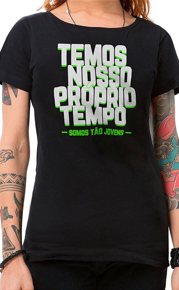 Camiseta Feminina Tão Jovens Preto