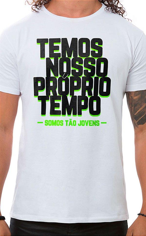 Camiseta Masculina Tão Jovens Branco