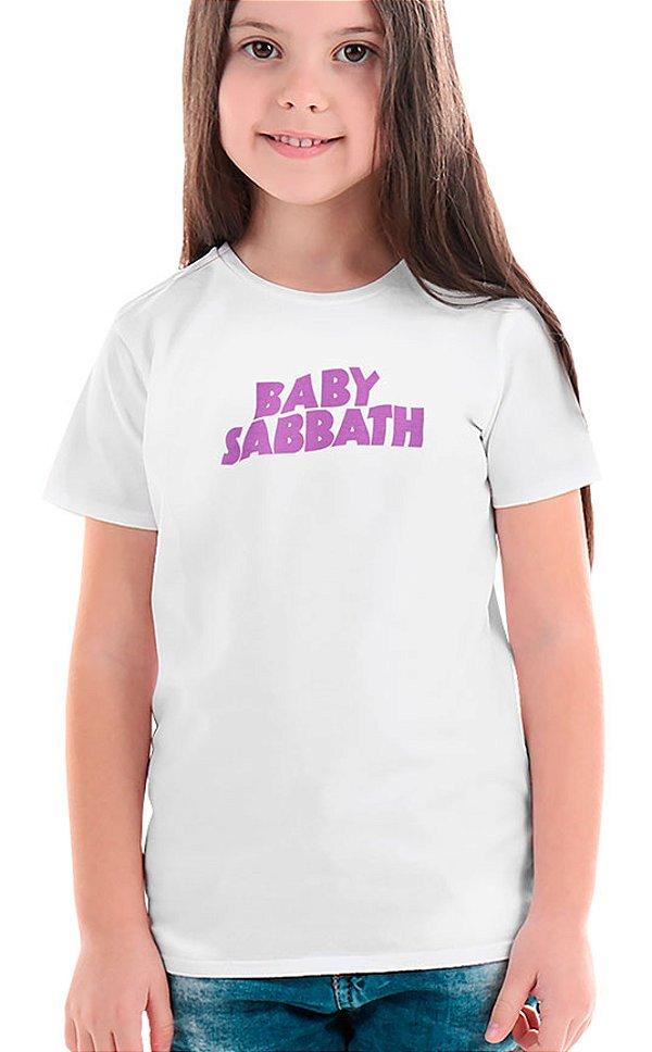 Camiseta Infantil Baby Sabbath Branco