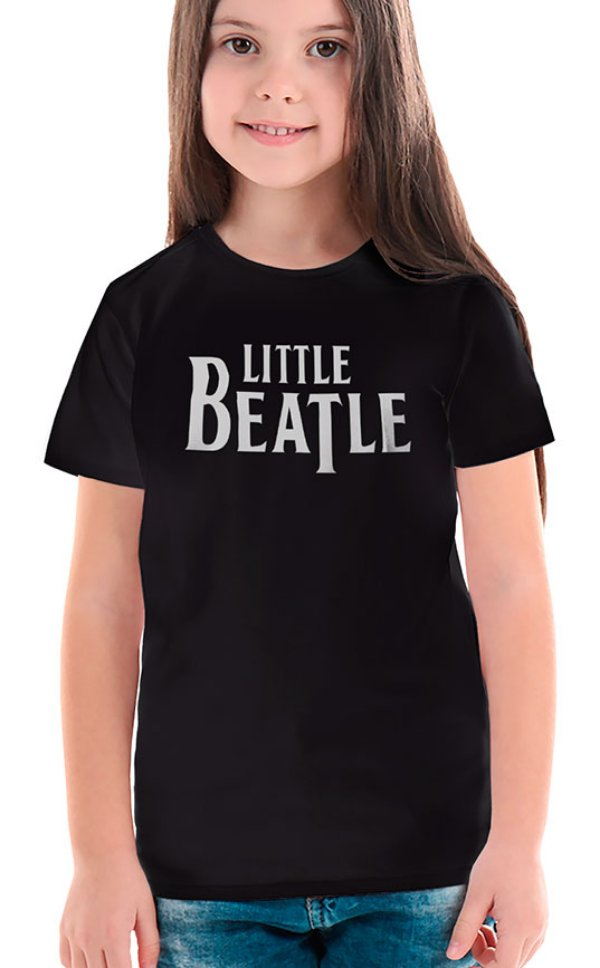Camiseta Infantil Little Beatle Preto